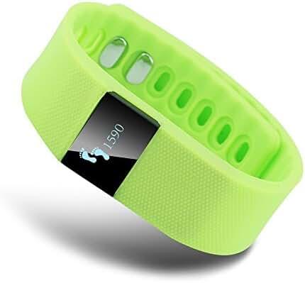 EFOSHM Green K5 Wireless Activity and Sleep Monitor Pedometer Smart Fitness Tracker Wristband Watch Bracelet for Men Women Boys Girls Ladies Man iPhone Sumsung HTC (Green)