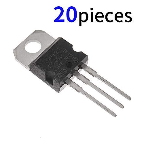 - Bridgold 20pcs TIP127 PNP BJT Transistors Darlington Bipolar Power Transistor 5A -100v 3Pins