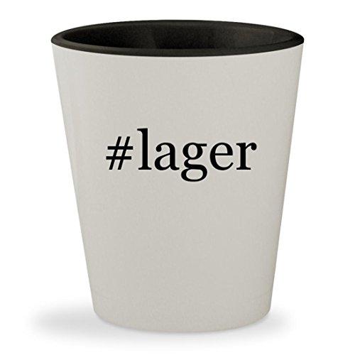 Toasted Lager (#lager - Hashtag White Outer & Black Inner Ceramic 1.5oz Shot Glass)