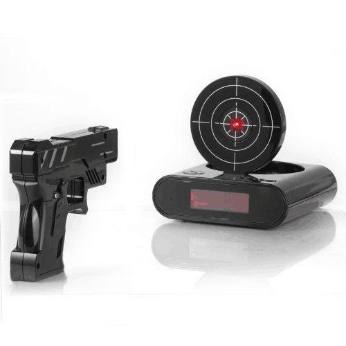 Gun Alarm Clock Target Wake Up Shooting Game Toy Novelty: IreVoor Lock N' Load Gun Alarm Clock/target Alarm Clock