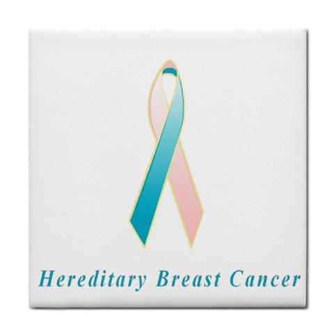 Hereditary Breast Cancer Awareness Ribbon Tile Trivet