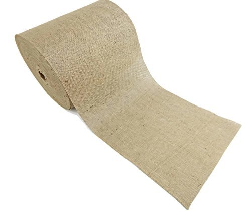 Burlap and Beyond 14'' Natural Burlap Roll - 100 Yards Eco-Friendly Jute Burlap Fabric Unfinished Edges 14 Inch