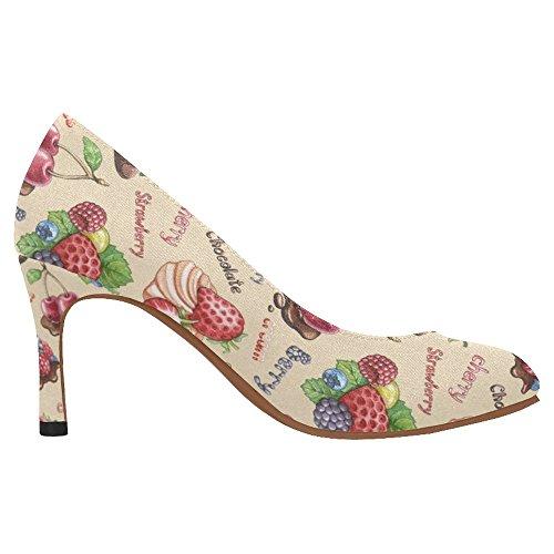 Zapatos De La Bomba Del Vestido Del Alto Talón De La Moda Clásica De Interestprint Para Mujer Multi 11