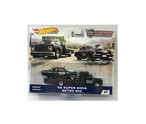 Rare 66 Super Nova & Retro Rig 2019 Wheels Team Transport Car Culture C Case Diecast Toy Quick Arrive