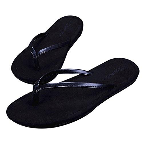 Moxeay Classic Non-Slip Couple Beach Flip Flops Sandals (10D(M), Black for Men) by Moxeay