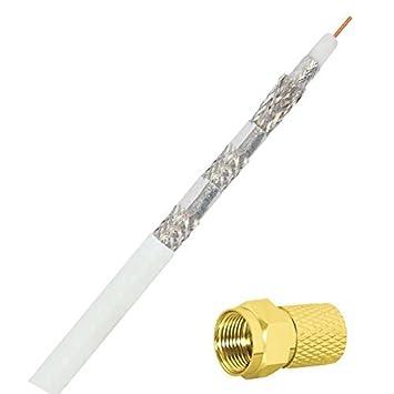 Barata Line 100 M - cable coaxial apantallado 6-compartimiento; Blindaje de 140 db