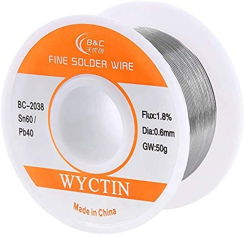 Soldering Solder Wire Fluxed Core Hobbyists Electronics 60//40 Tin Lead 2/% Flux