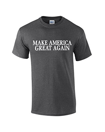 (Make America Great Again Donald Trump President 2020 Adult Tee-Heather Gray-XL)