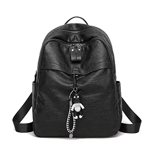 La Casual La Mochila De Escuela Bolsas Suave Mochila Black Capacidad De De Gran De Moda De Viaje PU wwpEPf