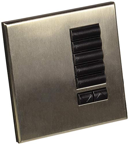 Lutron QSWE-5BRLN-SN See Touch QS Wall Station 5-Button