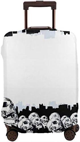 荷物カバー スーツケースカバー トランクカバー ラゲッジカバー 防塵カバー 面白い スーツ キャリーケースカバー 保護伸縮素材 アウトドア 通勤 通学 超軽量 4サイズ 旅行 出張 耐久性 汚れ 傷 防止 盗難防止 おしゃれ 可愛い