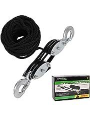 XSTRAP Heavy-Duty 2,000 LB Breaking Strength 50 FT Rope Hoist (Black)