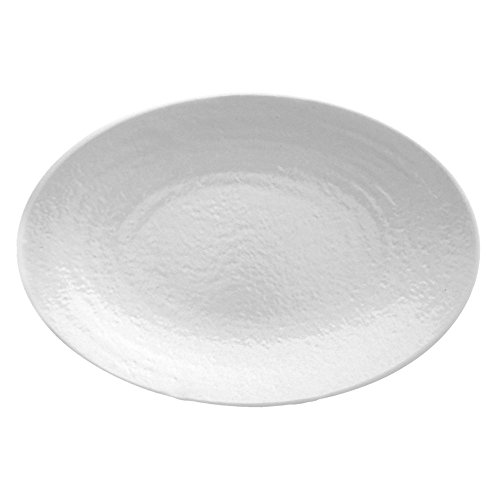 EGS D812RR-W Pebble Creek White 12-3/4 Platter - 6 / CS (Creek Pebbles)