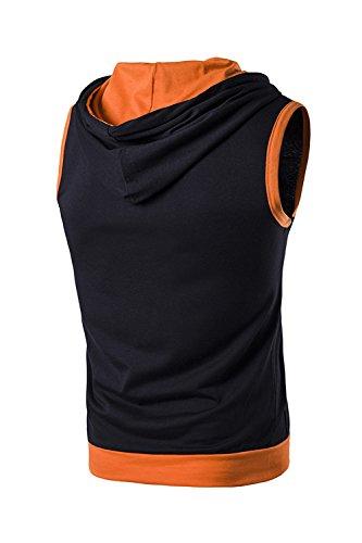 Sweat T Manches Shirt Poche Mens Sans Dazosue Athlétique Color Black Shirts Gilet Block z1CAWUwxq
