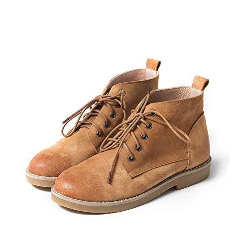 Shukun Stiefeletten Winter pu Retro Kurze Stiefel literarischen Martin Stiefel weibliche Wilde Studenten hohe Schuhe