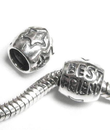 """Best Friend Queenberry Focal argent Sterling 925 pour bracelets de type Pandora, Troll, Chamilia et Biagi """"Jewelry"""