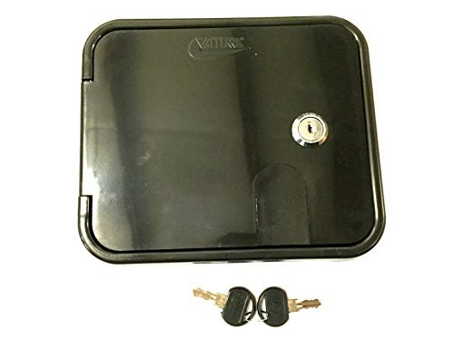 Electric Hatch - Valterra Black Electric Power Cord Cable Hatch Compartment Lock Keys