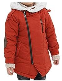 sull Boy's Winter Cotton-Padded Parka Jacket Hooded Fleece Coat
