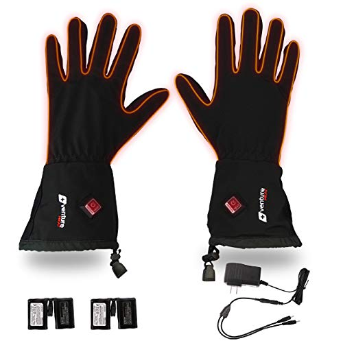 Venture Heat Heated Gloves for Men Women - Battery Powered Glove Liner, Hand Warmer Cycling Ski Snow Winter, Avert 2.0 (L)