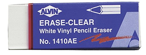 - Alvin 1410AE 20/Box White Vinyl Pencil Erasers