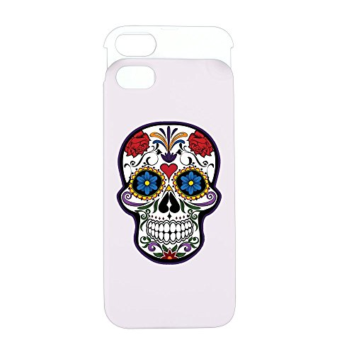 iPhone 5 or 5S Wallet Case Pink and White Floral Sugar Skull Day of the (Latina Halloween Makeup)