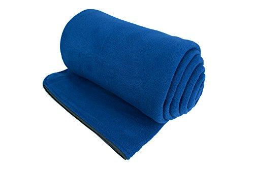e0e70fc8e9 Osage River Microfiber Fleece Zippered Sleeping Bag Liner with Carry  Storage Bag (Navy Blue Fleece