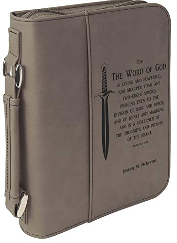 For The Word Of God Personalized Bible Slipcover With Handle And Zipper
