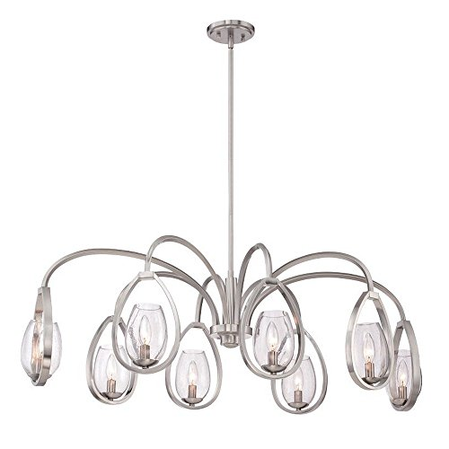 (Eurofase 28077-015 Modern Fantini 8-Light Oval Chandelier)