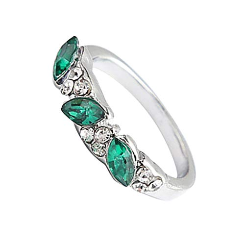 - ✔ Hypothesis_X ☎ Emerald Rings for Women,New Rings Finger Decoration Fashion Jewelry for Birthday Anniversary