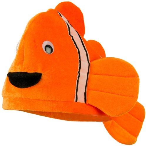 Fisher Woman Halloween Costume (Assorted Marine Animal Hats - Orange Fish OSFM)