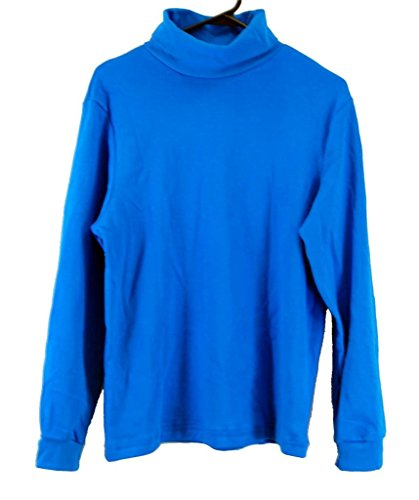 BLUE Men's Combed Cotton Euro Design Ski Casual Turtleneck (Blue Turtleneck)