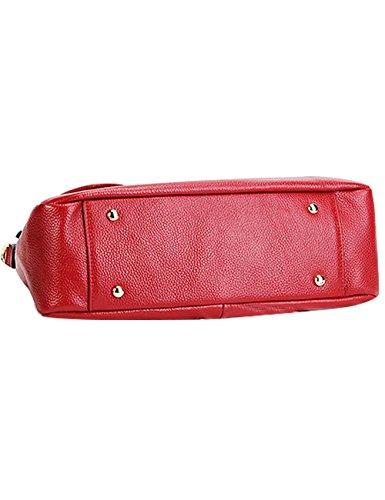 Sacchetto Di Rosso Cuoio Moda Chiaro Donne Menschwear Genuino viola Delle CvCTHr