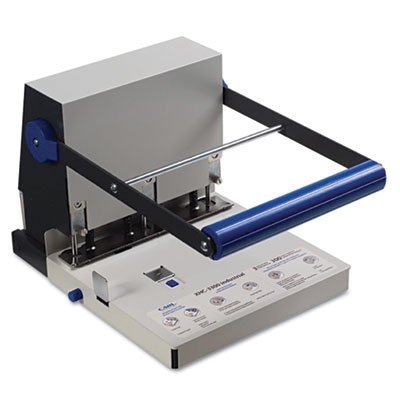 300-Sheet XHC-3300 Heavy-Duty Three-Hole Punch, 9/32'' Holes, Steel, Blue/Gray, Sold as 1 Each by Carl