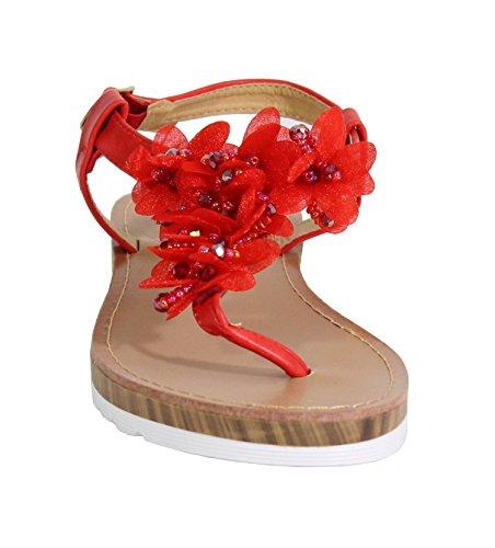 By Shoes - Sandalias para Mujer Rojo