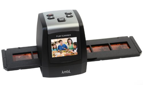 "Jumbl 22MP High-Resolution 35mm Negative Film & Slide Scanner w/ 2.4"" Color LCD - no Computer or Software Required To Operate - TV out Cable Included"