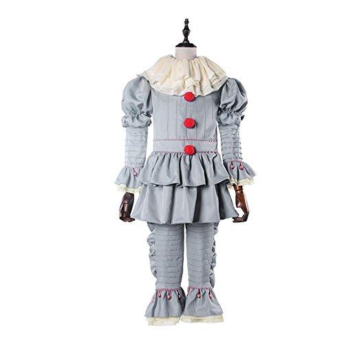 Stephen King's It Clown Costume Chiffon Cosplay Jumpsuit White Dress M