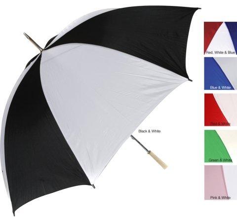 RainWorthy 60 inch Umbrella (case of 24) - Black/ White - 065-G30BK