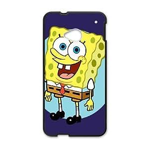 HTC One M7 Cell Phone Case Black Sponge Bob AFK353408
