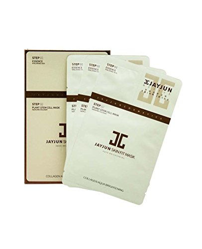 KOREA JAYJUN SKIN FIT MASK AQUA BRIGHTENING FACIAL SHEET LIGHTENING HYALURONIC 10PCS + Gift (Creative Fashion Shop)