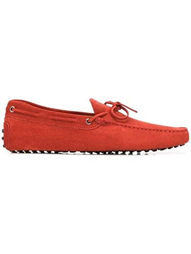 c6097ee5561cb Image Unavailable. Image not available for. Color: Tod's Men's  Xxm0gw05470re0r402 Red Suede Loafers