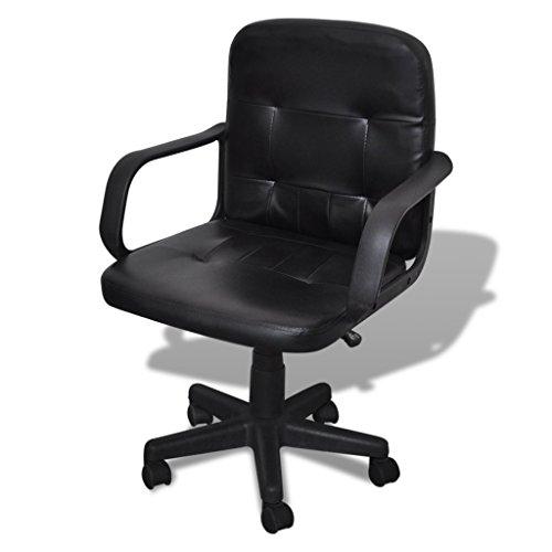 Festnight Ergonomic Leather Computer Desk Office Chair 360° Swivel Black by Festnight