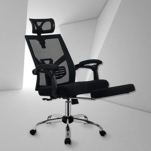 BestMassage Office Desk Chair with Footrest Adjustable High Back Computer Task Swivel Executive Office Chair for Back Support with Lumbar Support Adjustable Headrest