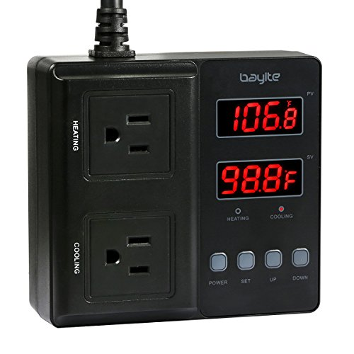 bayite Temperature Controller 1650W BTC211 Digital Outlet...
