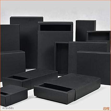 Multi Tamaño de Papel Negro Caja Grande de Embalaje de Regalo Caja ...