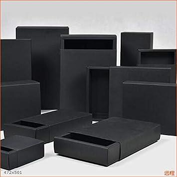 Multi Tamaño de Papel Negro Caja Grande de Embalaje de Regalo Caja de Papel Kraft Negro