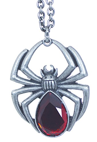 Gothic Black Widow Spider Necklace Pendant Gothic Punk TM Funtime -