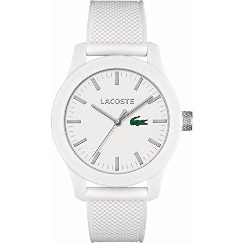 Lacoste Men's L.12.12 White Silicone Strap Watch - Uk Watchshop
