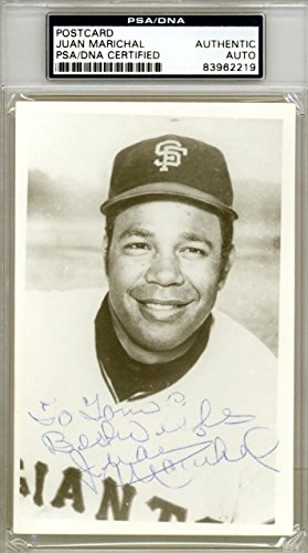 Juan Marichal Autographed 3.5x5.5 Postcard To Tom Best Wishes 83962219 PSA/DNA Certified MLB Cut Signatures
