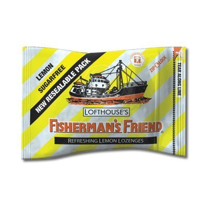Fisherman's Friend Sugar Free Lemon Lozenges, 25g Sachet (Pack of 12) by Fisherman's Friend