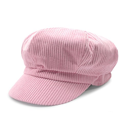 - ZLS Women's Retro Peaked Ivy Newsboy Paperboy Gatsby Cabbie Painter Cap Hats (5-Pink)
